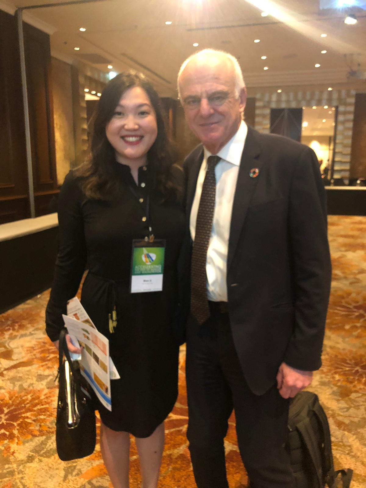 Bian Li with UN Special Advisor to the Secretary General Dr. David Nabarro