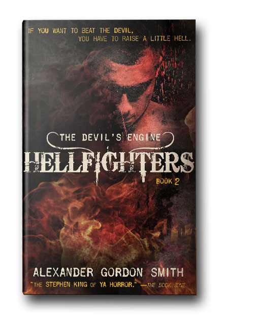 Hellfighters - In Hellraisers, he made a demonic deal. Now it's time to pay the price.Thrown into a relentless war against the forces of darkness, fifteen-year-old Marlow Green and his squad of secret soldiers must fight for control of the Devil's Engines—ancient, infernal machines that can make any wish come true, as long as you are willing to put your life on the line.But after a monstrous betrayal, Marlow, Pan and the other Hellraisers find themselves on the run from an enemy with horrific powers and limitless resources—an enemy that wants them dead at all costs.Failure doesn't just mean a fate worse than death for Marlow, it means the total annihilation of the world. And when all looks lost and the stakes couldn't be higher, just how far is he willing to go?Alexander Gordon Smith's thrilling sequel to The Devil's Engine: Hellraisers is perfect for teen readers who like action-packed, high-stakes novels.