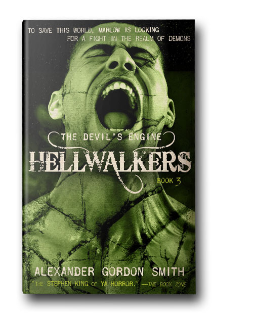 Hellwalkers - The final book in an explosive trilogy about the secret battle for control of an all-powerful ancient machine which can grant you anything you wish for, in exchange for the price of your soulIn the third and final book of Alexander Gordon Smith's Devil's Engine series, Marlow and Pan are in hell. Literallyin hell. Faced with the awful truth of being trapped in the underworld for an eternity—of Pan being trapped—Marlow makes a final deal with the Devil, a deal to go home. But he should have known: there is no real escape from a fight with the ultimate enemy. And when all hell breaks loose, it will be a war to end all wars—with demonic creatures spilling into the streets, monsters emerging from the shadows.Only the Hellraisers stand in their way, and they're not sure this is a battle they can win. They have no powers, they have no weapons. But they have each other, and they have hope, and they know how to kick ass.