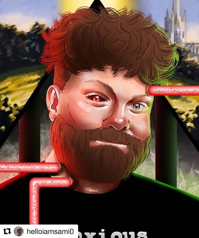 This is AMAZING!!!!! Extraordinary artist @helloiamsami0 created this awesome digital portrait of me, inspired by the covers of the Furnace books!!!! I don't think I have ever looked cooler in my whole life. And since Alfred Furnace created the prison and all its horrors, and I created Alfred Furnace, it works perfectly!!! Thank you so much, Sami, I am truly honoured!!!! 😀❤️ #authorlife #writersofinstagram #authorsofinstagram #escapefromfurnace #alexandergordonsmith #authorportrait #lookinggood #Repost @helloiamsami0 with @get_repost ・・・ This is a portrait of @alexandergordonsmith ! We had to create a portrait of an author of our choosing in my Digital Painting class and I chose him because I love the Escape from Furnace books! I had a lot of fun making this and experimenting with new photoshop techniques!  #art #drawing #artist #digitalart #photoshop #digitalpainting #mangastudio #portrait #author #artwork #arthelp