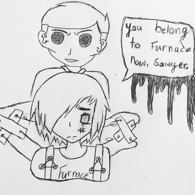 I love this piece of fan art from @boredom.exe101!!!!! Poor Alex!!!! Thanks so much for sending it to me!!!! 😀 #authorlife #authorsofinstagram #escapefromfurnace #fanart #alexandergordonsmith