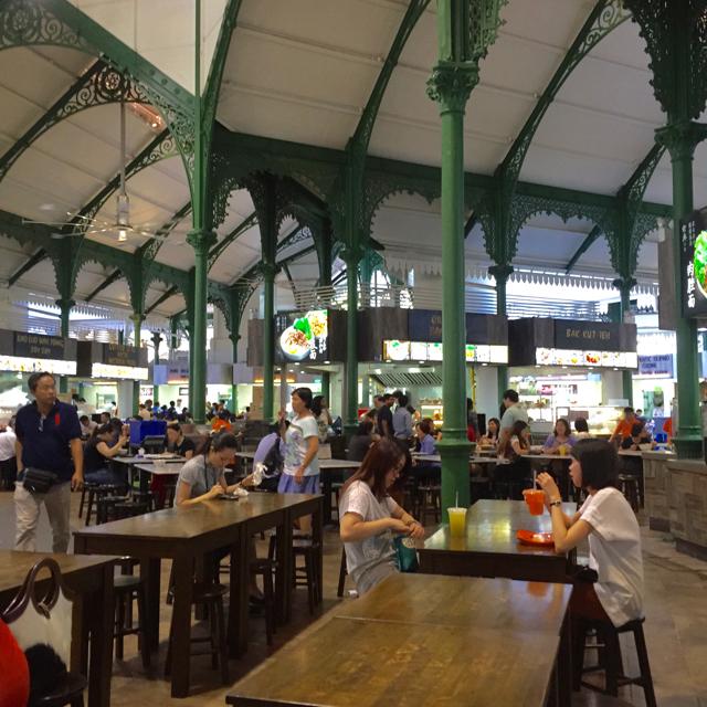 Lau Pa Sat, a famous hawker centre.