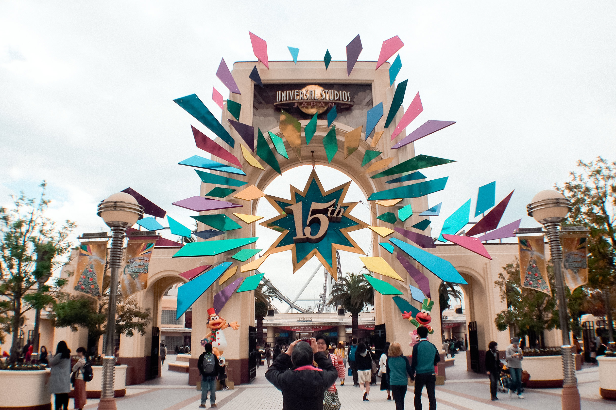 The entrance of the theme park. There were special decorations when we visited as they were celebrating their 15th anniversary.