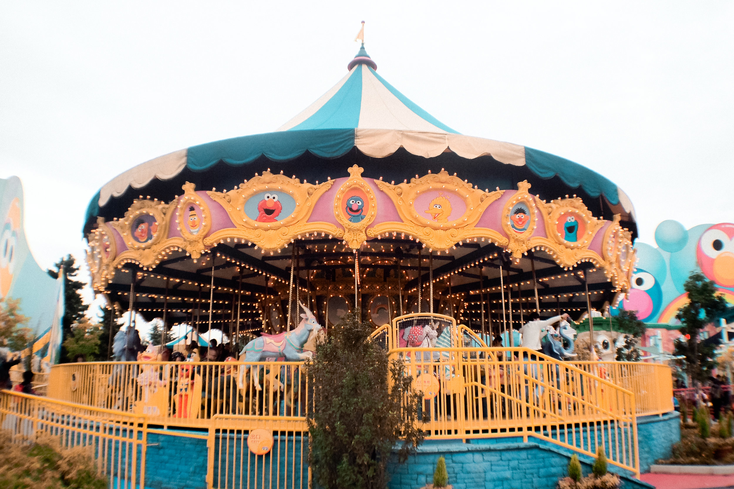 Sesame Street merry-go-round!
