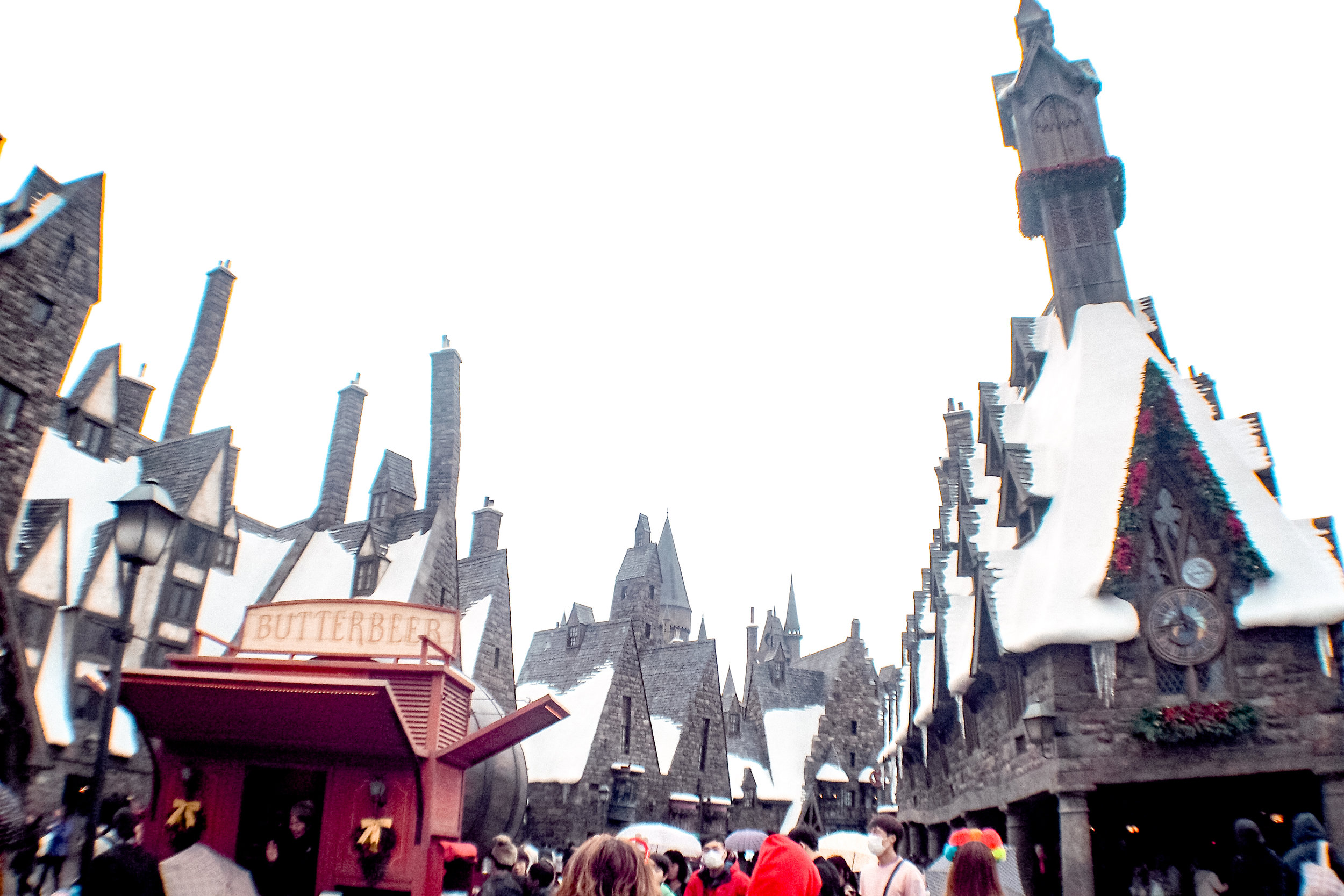 Hogsmeade! I think I screamed when saw this view. LOL
