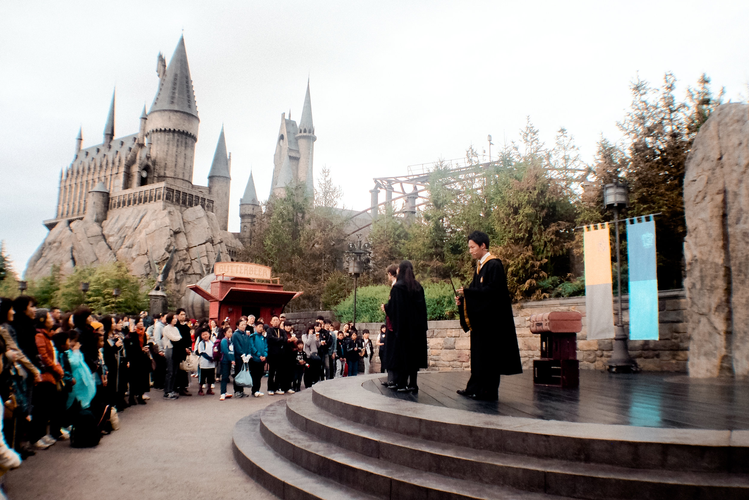 One of the performances inside the Wizarding World. It's called Wand Studies.