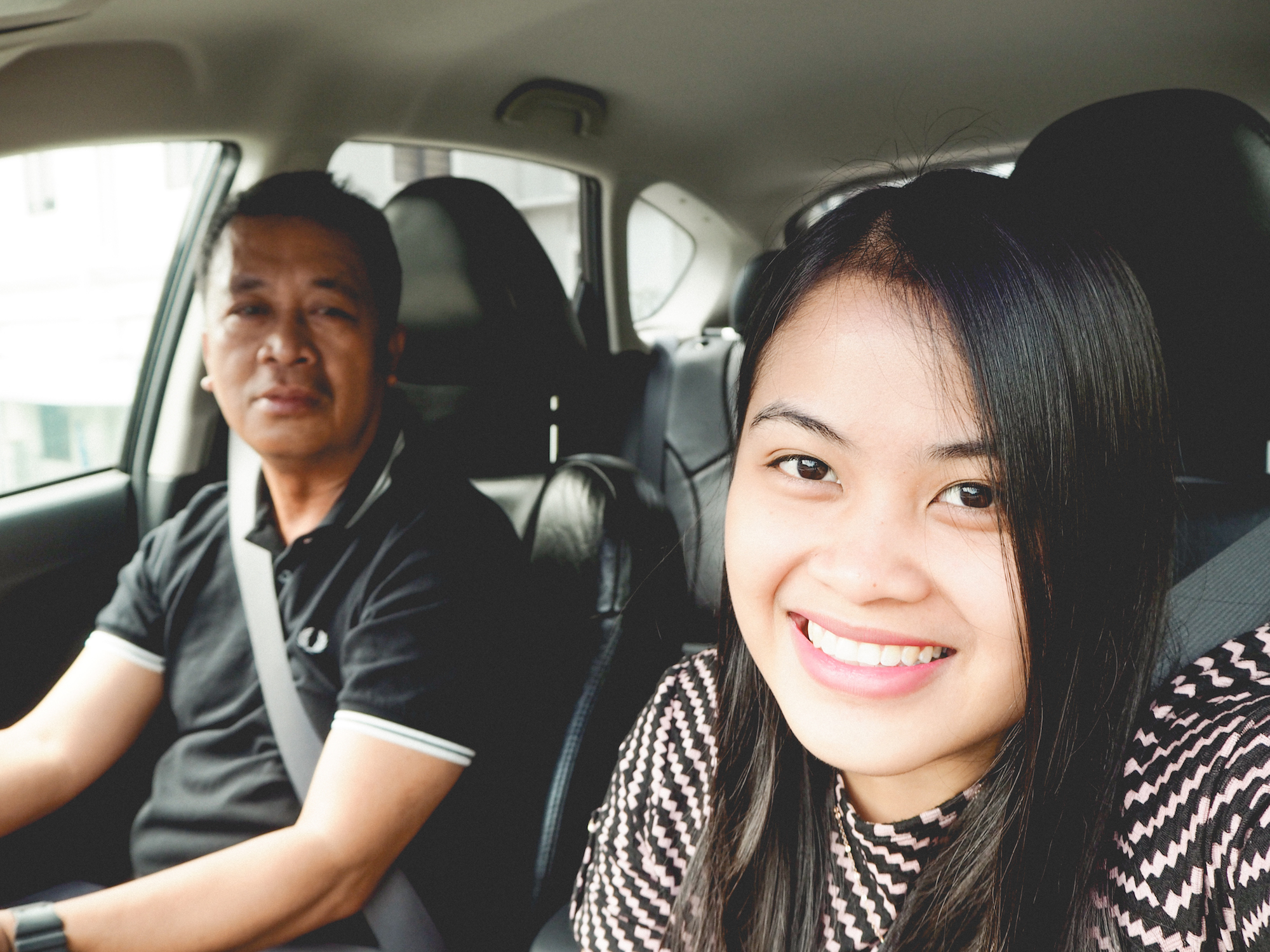 My dad and I on our way to Orchard!