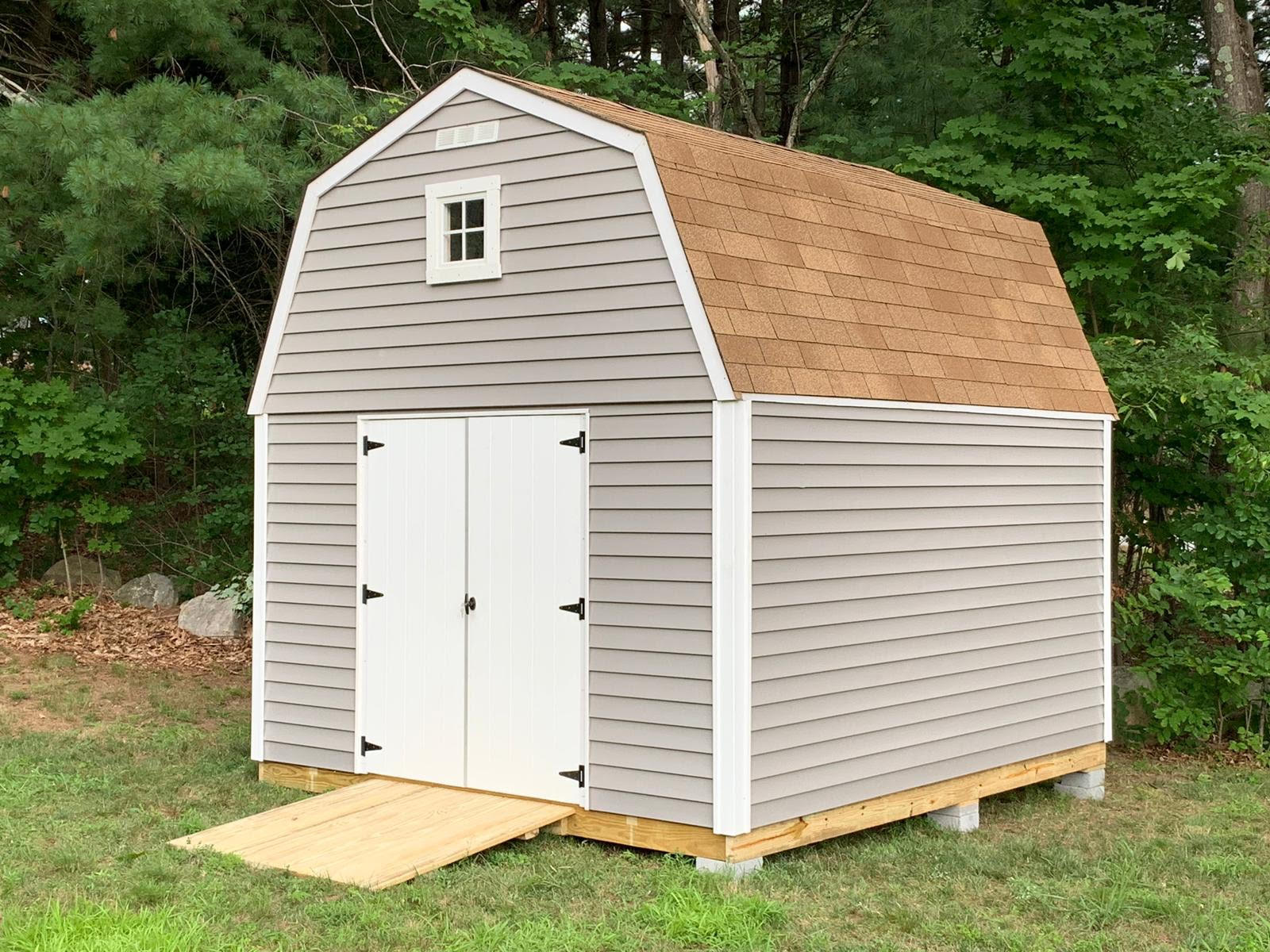 10x12 Barn Storage Vinyl with Transom Window