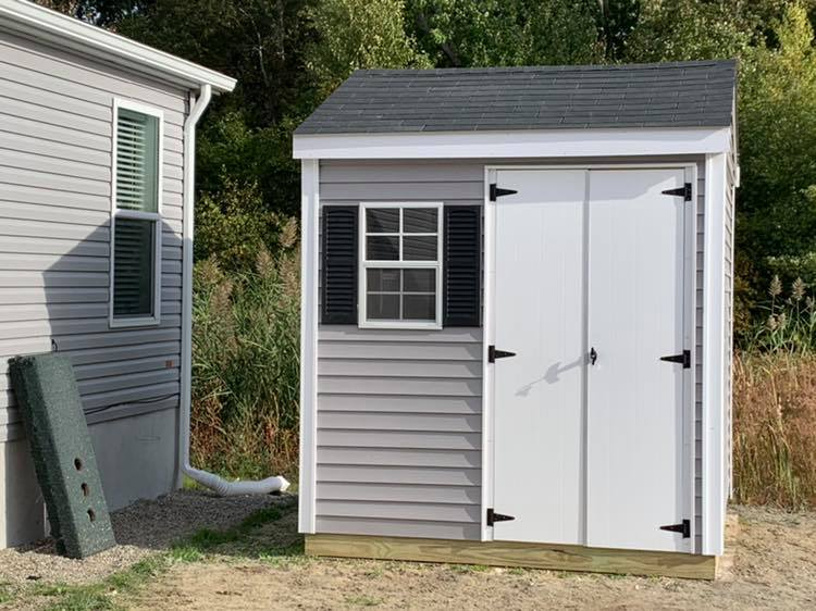8x8 Garden Shed Vinyl with 7' walls