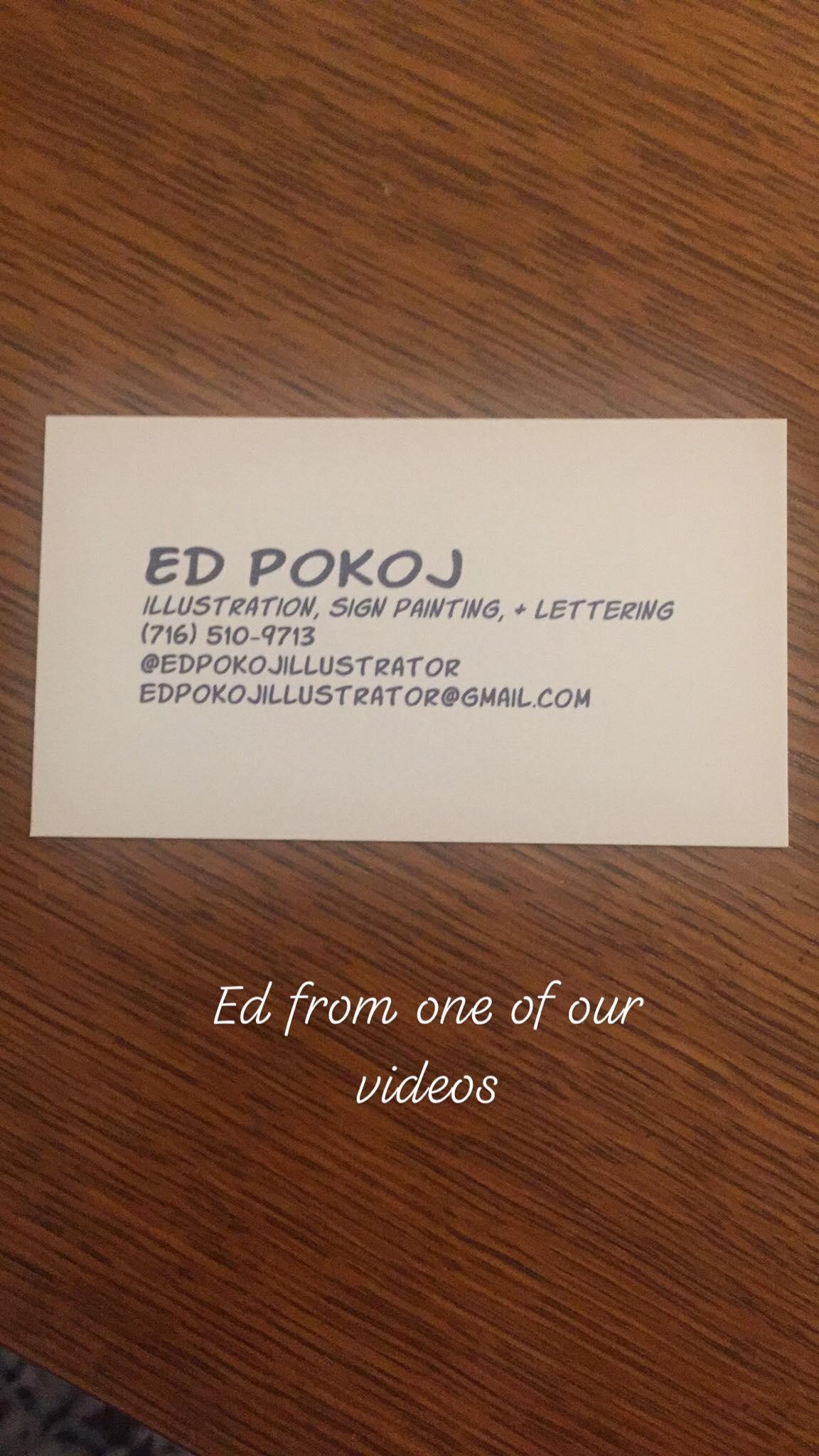 You can found Ed Pokoj on Instagram at  @edpokojillustrator .
