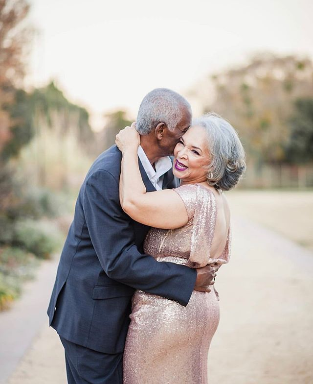 50 years of marriage, we're all praying for the one worth pressing through the challenging moments of life. #blessing #blacklove Photo Cred: @imagesbyamberr