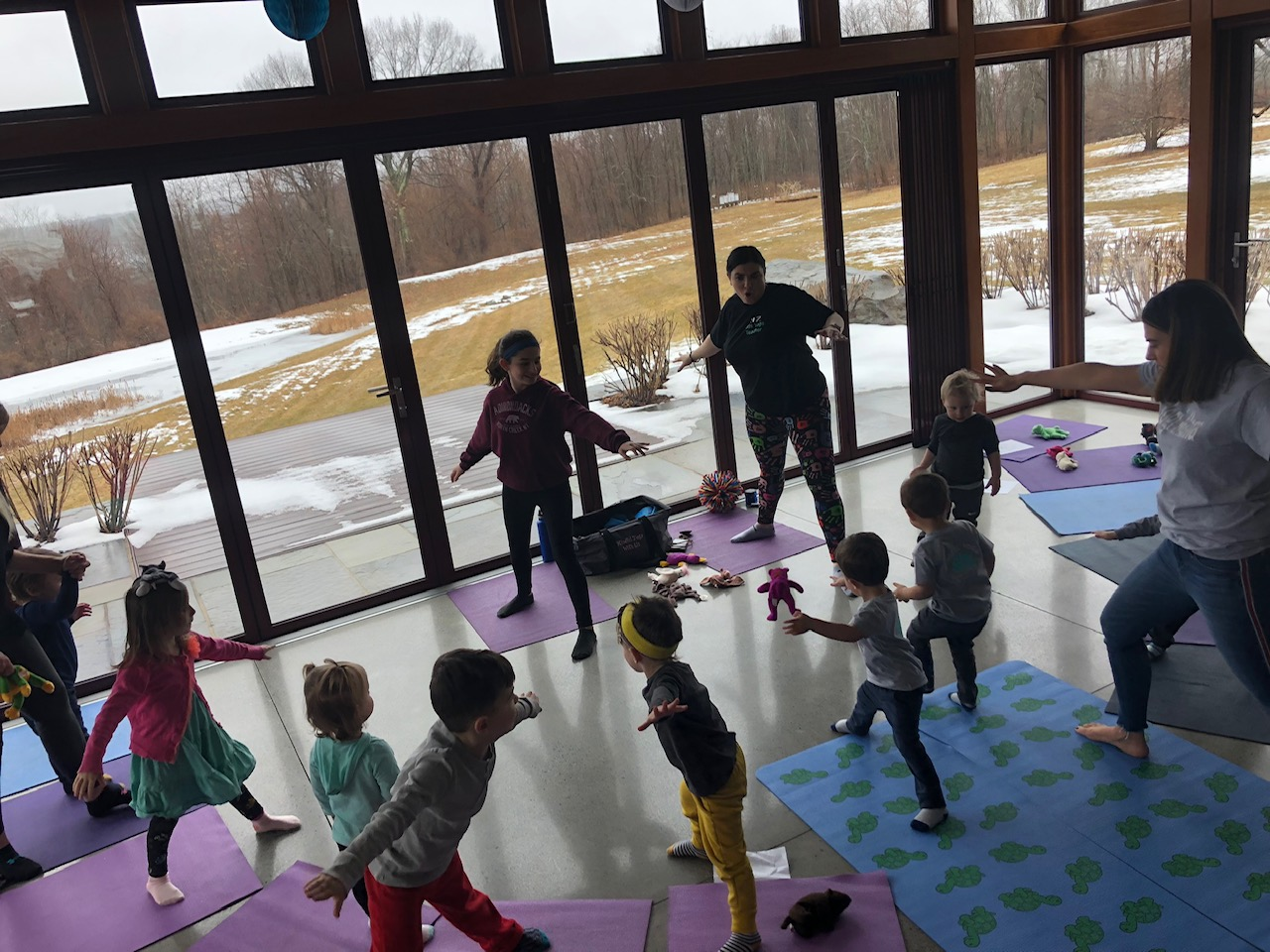 My sons' yoga party with Mindful Yoga With Liz