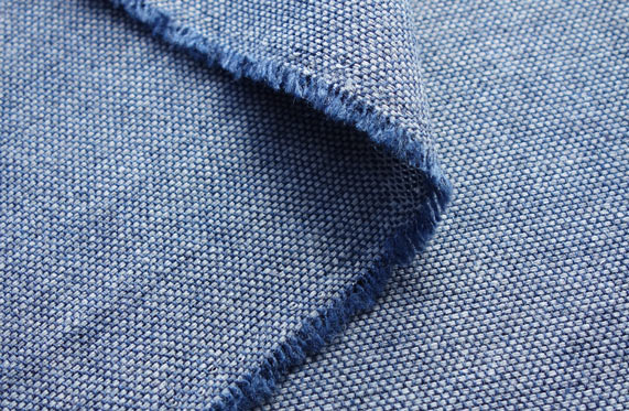 Hemsley Cobalt 5/04 Recycled Wool Fabric — British Woven Upholstery Fabrics  - Yarn Textiles