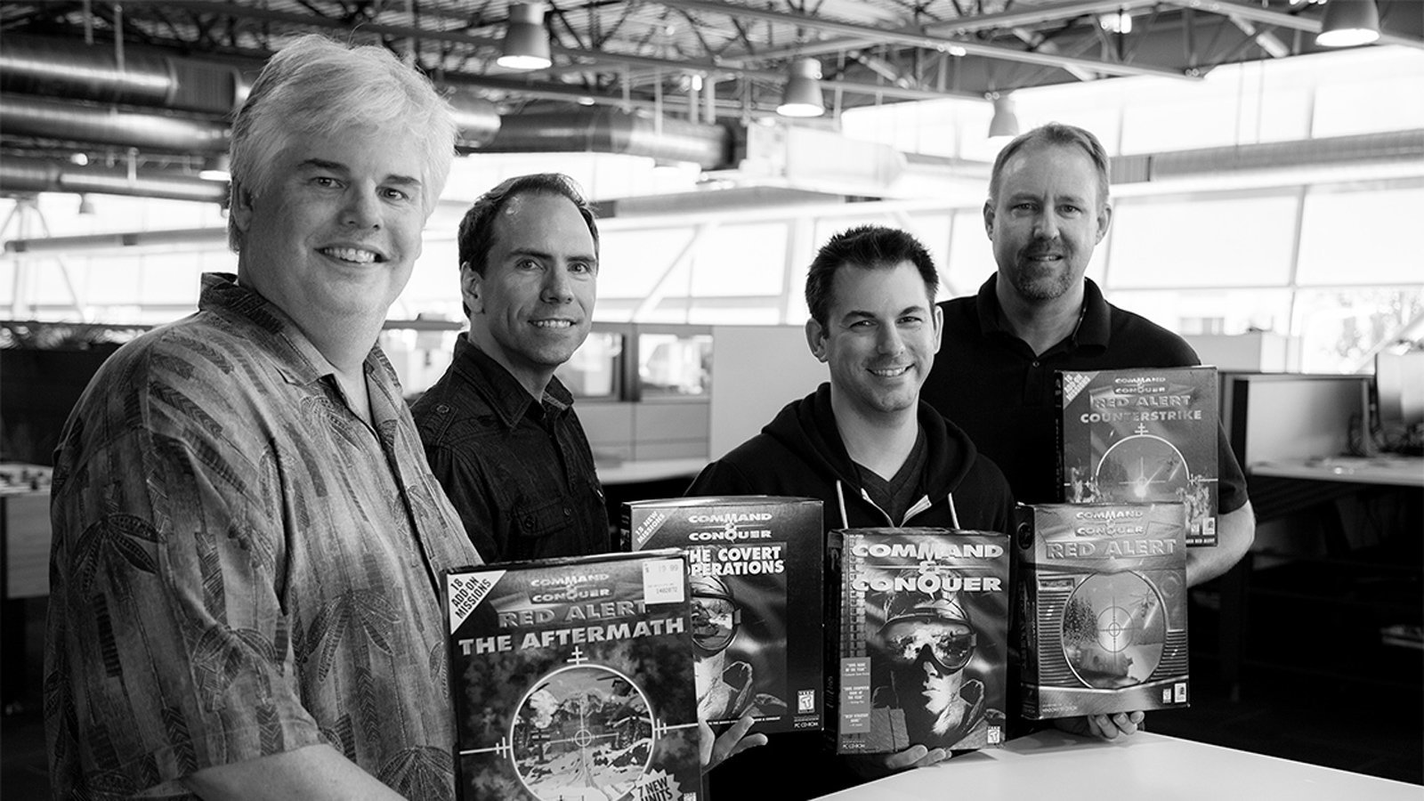 Reunion with the C&C vets Mike Legg, Jim Vesella, and Ted Morris for the making of C&C / Red Alert Remaster (Photo from Ars Technica)