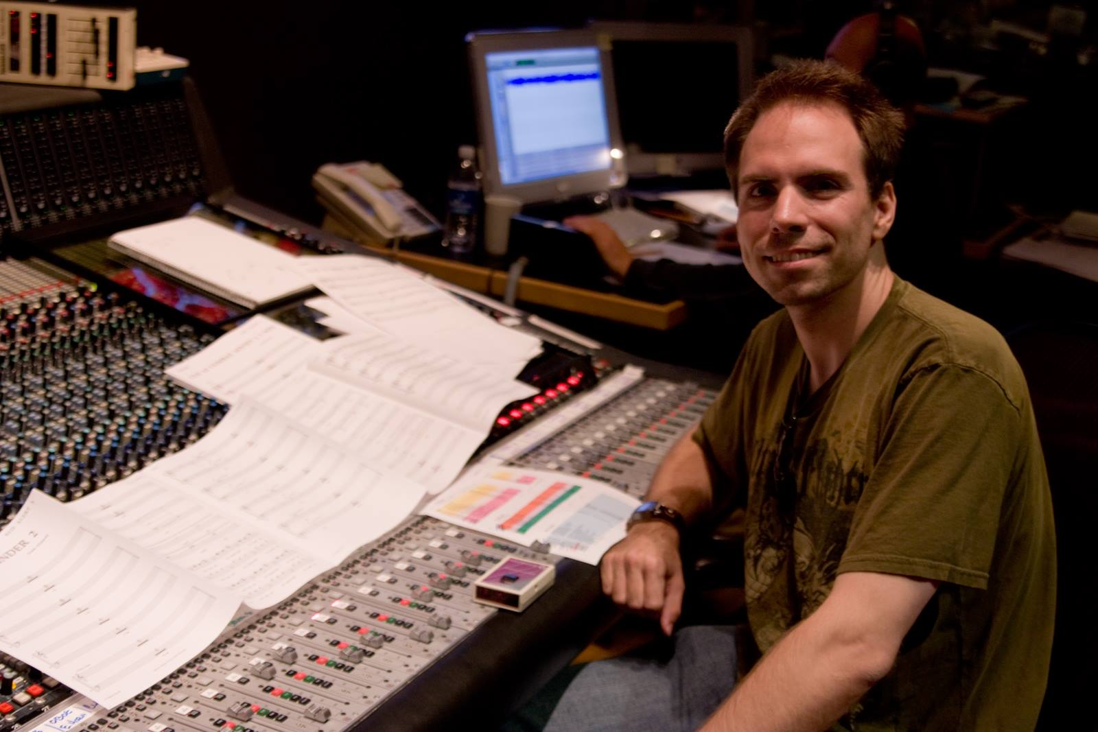 """Recording """"Grinder 2"""" for Red Alert 3 at Skywalker Sound, 2008."""