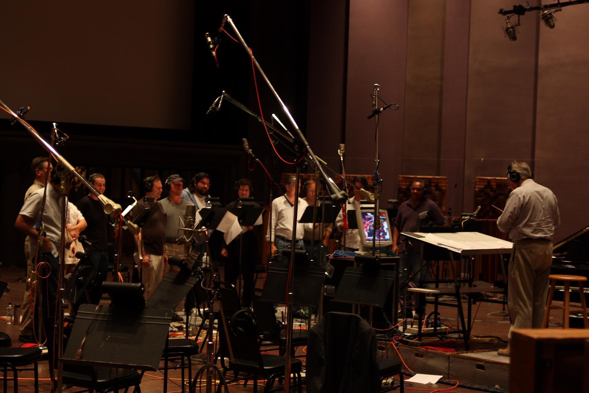 Choir session for Red Alert 3 at Skywalker Sound, 2008.