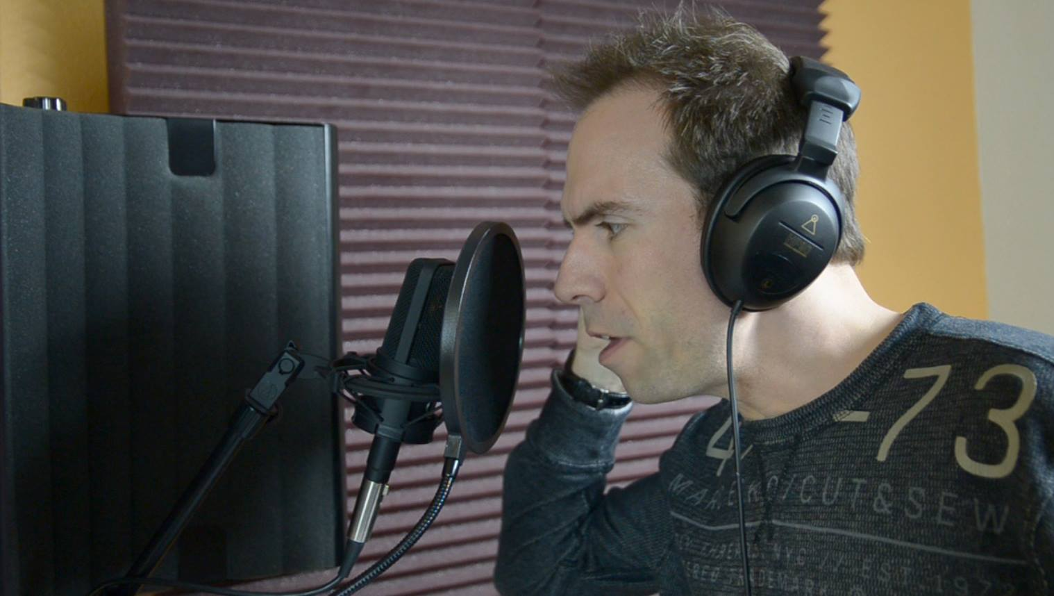 Voice acting session for Battle Battalions