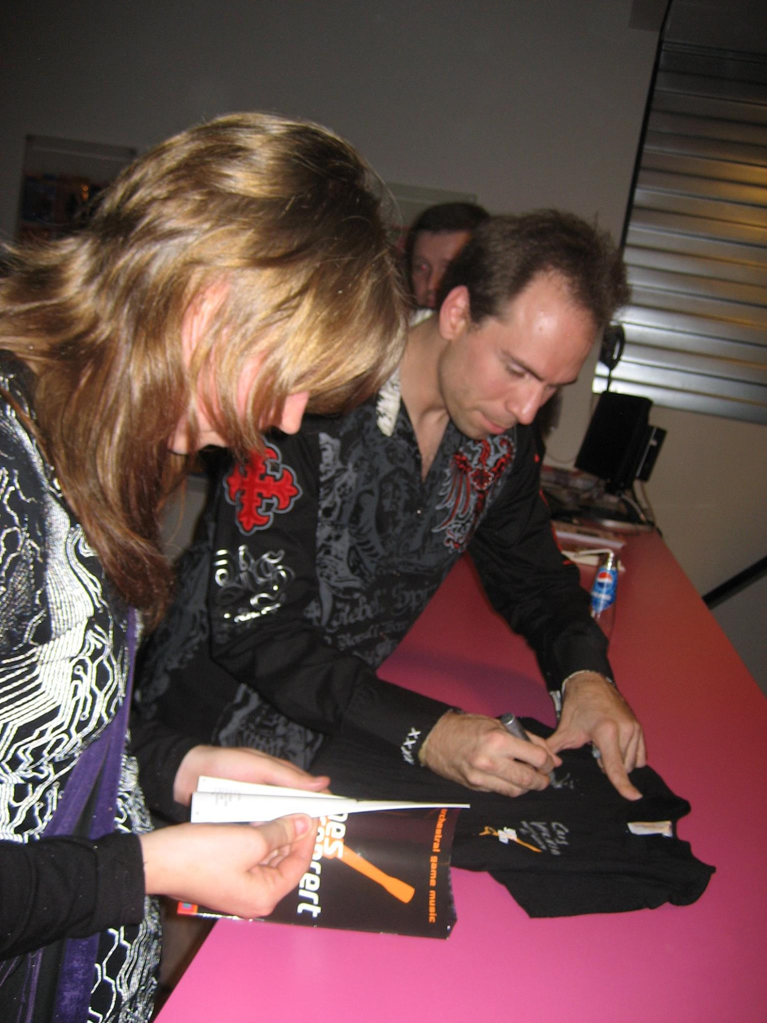 Signing session with the fans at Games in Concert