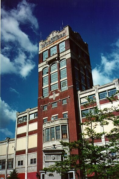 The Wurlitzer factory. Photo taken in 1996 by  Jeff Cushing.