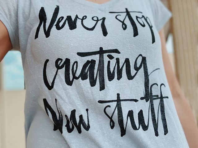 NEVER STOP CREATING NEW STUFF. Anybody else's head always spinning with new ideas? 🙋🏼♀️ I'm here to hand over a permission slip for those #creatives out there who have been told they need to stop creating. Find people who keep you grounded and keep you moving forward...then KEEP CREATING NEW STUFF. The 🌍 needs more ideas! They aren't already taken. But here's the catch...ideas without an action plan go to waste. So, when you have that great idea, PUT IT TO WORK and make magic happen. This means, when you wake up at midnight to write that idea down, or put it in your notes on your phone, also come up with the first three things you're going to do to make it happen. Then, when you finish your second item on that to-do list, go ahead and add your next three things that it will take to accomplish it. See it through. Finish it. And, whether anybody buys it or buys into it, you did it. You never know which little idea you have might change someone's life, so you owe it to all of us to make it happen. Now, go do the thing!!! . . . . #smallbiz #smalltown #laurelms #iliveinlaurel #marketingtips #makersgonnamake #creativeminds #creativeart #handsandhustle #savvybusinessowner #communityovercompetition #onmydesk #mixedmediaart #creativelife #handmadeisbetter #expressive #creativehappylife #mycreativebiz #femaleentrepreneur #makersvillage #creativeentrepreneur #risingtidesociety #tnchustler #womeninbiz #spotlightonartists #beingboss #creatorslane #supporthandmade #createeveryday
