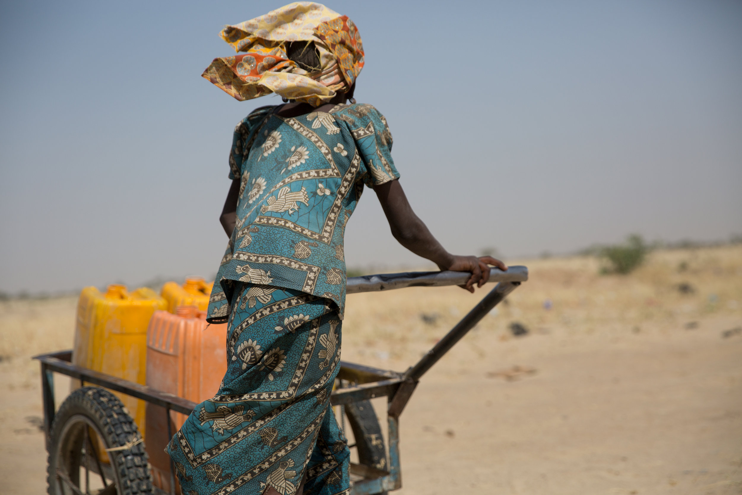 "Niger, 2017: Water collection on ""the road to nowhere""."""