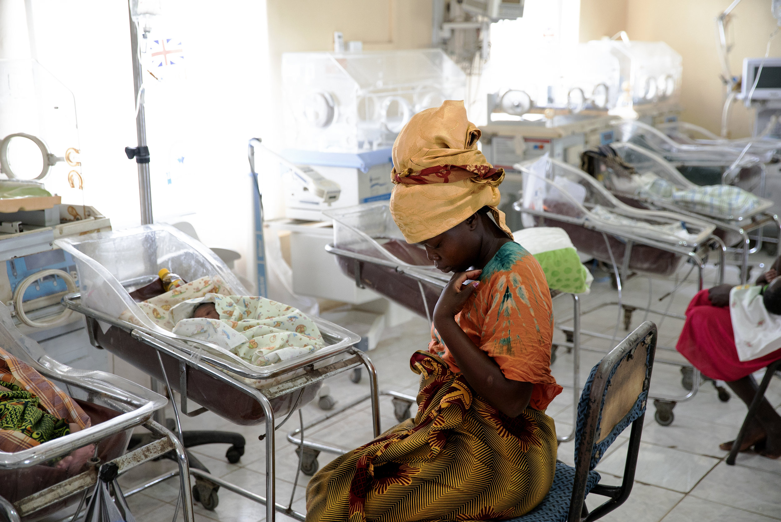 South Sudan, 2018: Hellen and her newborn in Juba's neo-natal clinic.