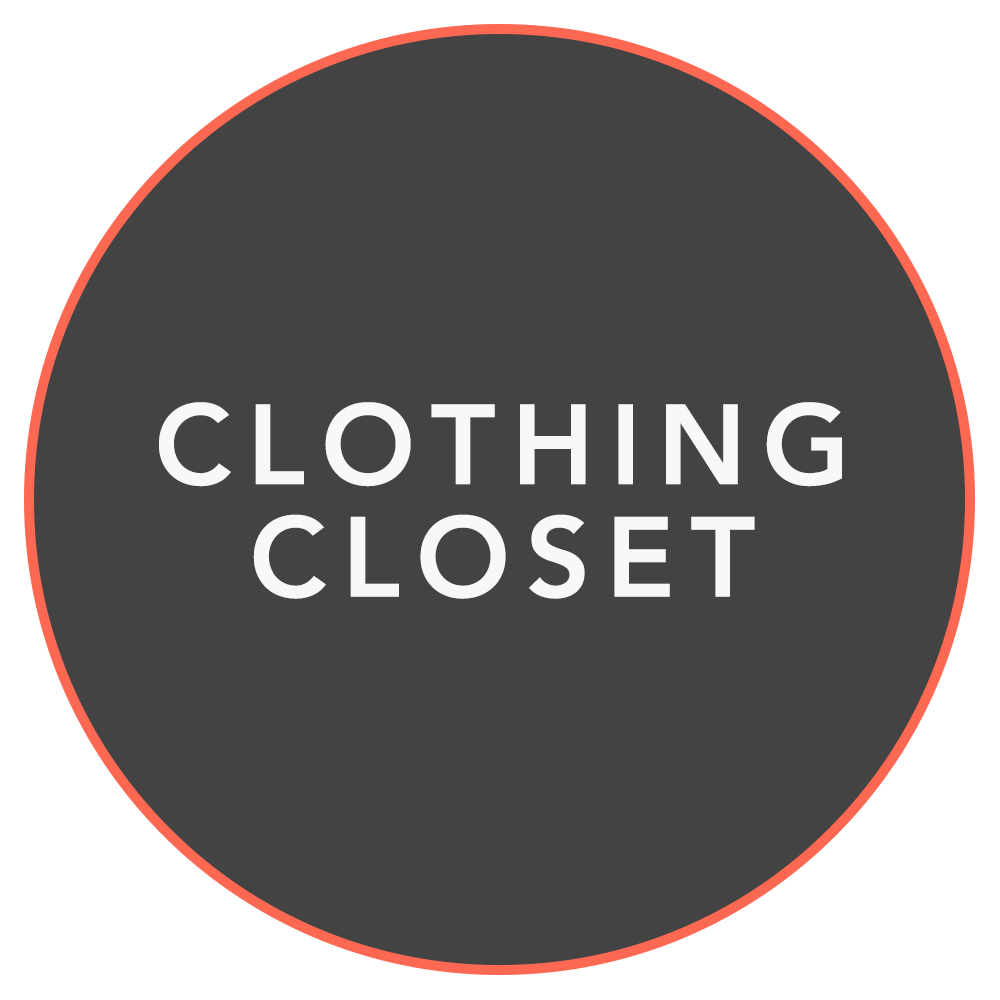 CLOTHING CLOSET - Free clothing is available to the community every Wednesday afternoon between 1 p.m. and 2:30 p.m. at the chapel. Donations of gently used clothing are appreciated. Closed during summer months.