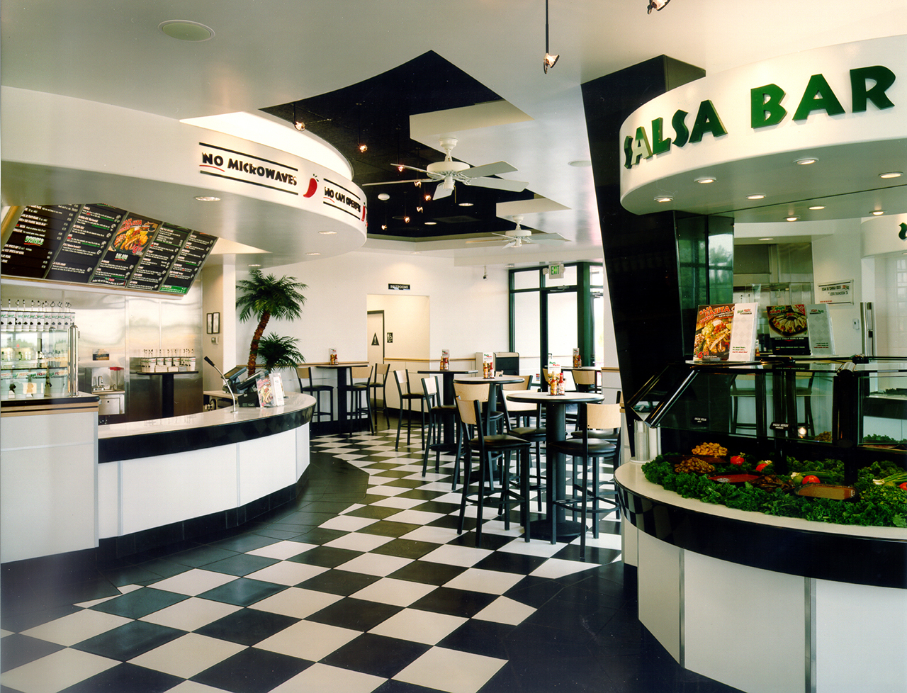 Baja Fresh Mexican Restaurant Salsa Bar.jpg