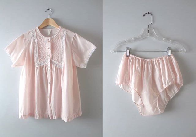 How darling is the vintage 60s pajama set in the palest pink shade?  Warm weather is just around the corner.  Link in bio to purchase   $68 Size Large ⠀⠀⠀⠀⠀⠀⠀⠀⠀ #pink #vintagelingerie #vintage #vintageclothing #pinup #isabellasvintage #lingerie #thatsdarling #instagood#fashiongram #lookbook #photooftheday  #fashiondiaries #outfitdetails #whattowear #dailyfashion #thehappynow #thatsdarling #vintageootd #whatiwore #lookoftheday #igstyle  #vintageclothing  #shopoholics #shoppingday #fashionaddicts #currentlywearing #thebellacompany #vintagepanties