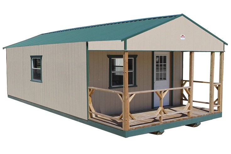 CABINS - Enjoy the great outdoors with our popular cabins, built to withstand any adventure. Our cabins also make a perfect economical guest house or rustic man cave.