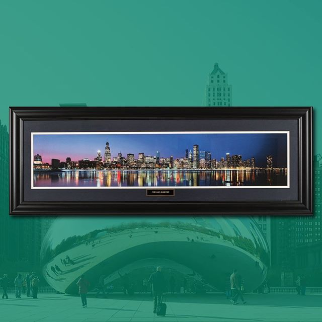 Chicago skyline 🛩 17 x 43 in.
