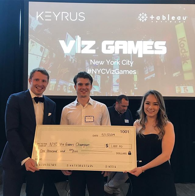 That's a wrap on the NYC Viz Games! A big thank you to our three competitors and congratulations to our winner, Jacob!