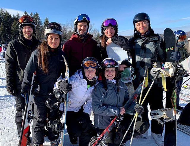 It was a great weekend for a company ski trip ☀️ ❄️ ⛷️