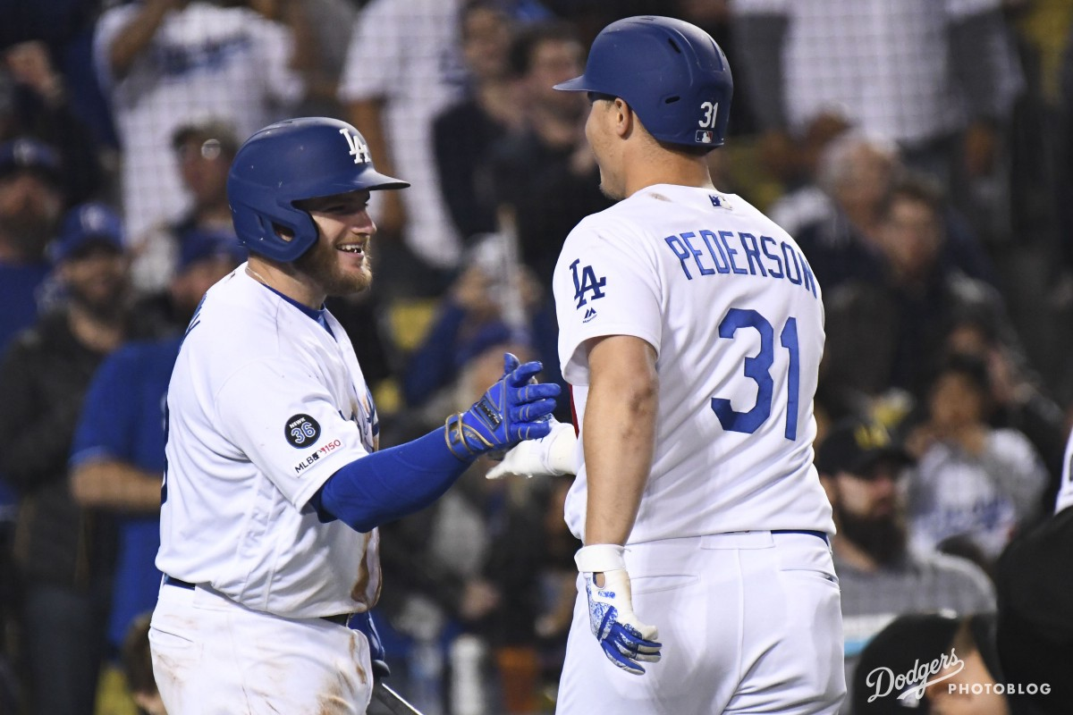 Joc Pederson & Max Muncy.  Josh Barber/Los Angeles Dodgers