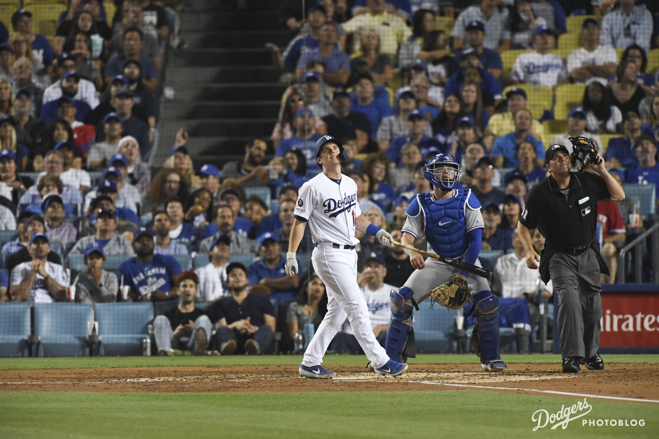 Will Smith admiring his home run. Jon SooHoo/Los Angeles Dodgers