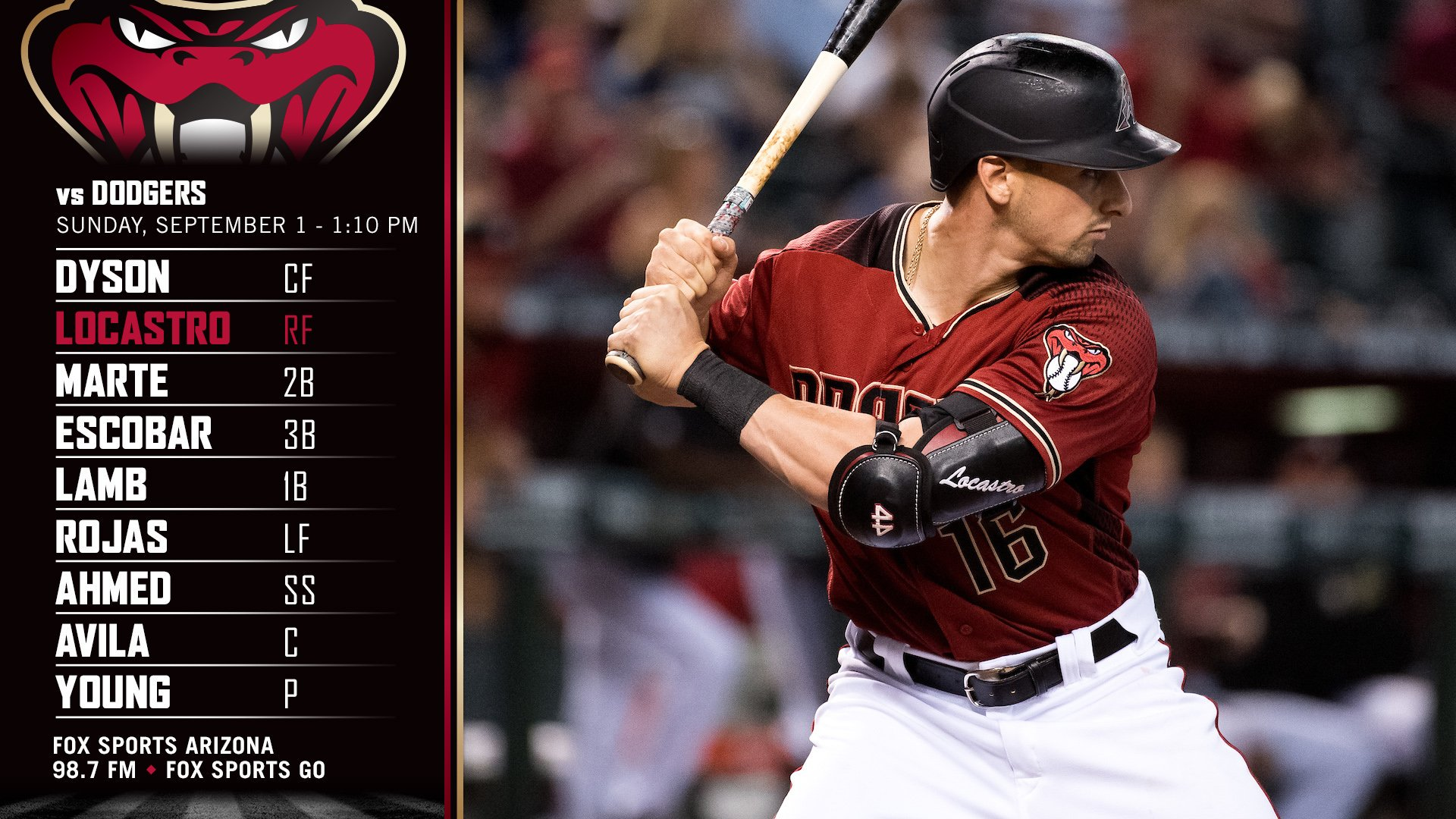Diamondbacks lineup.