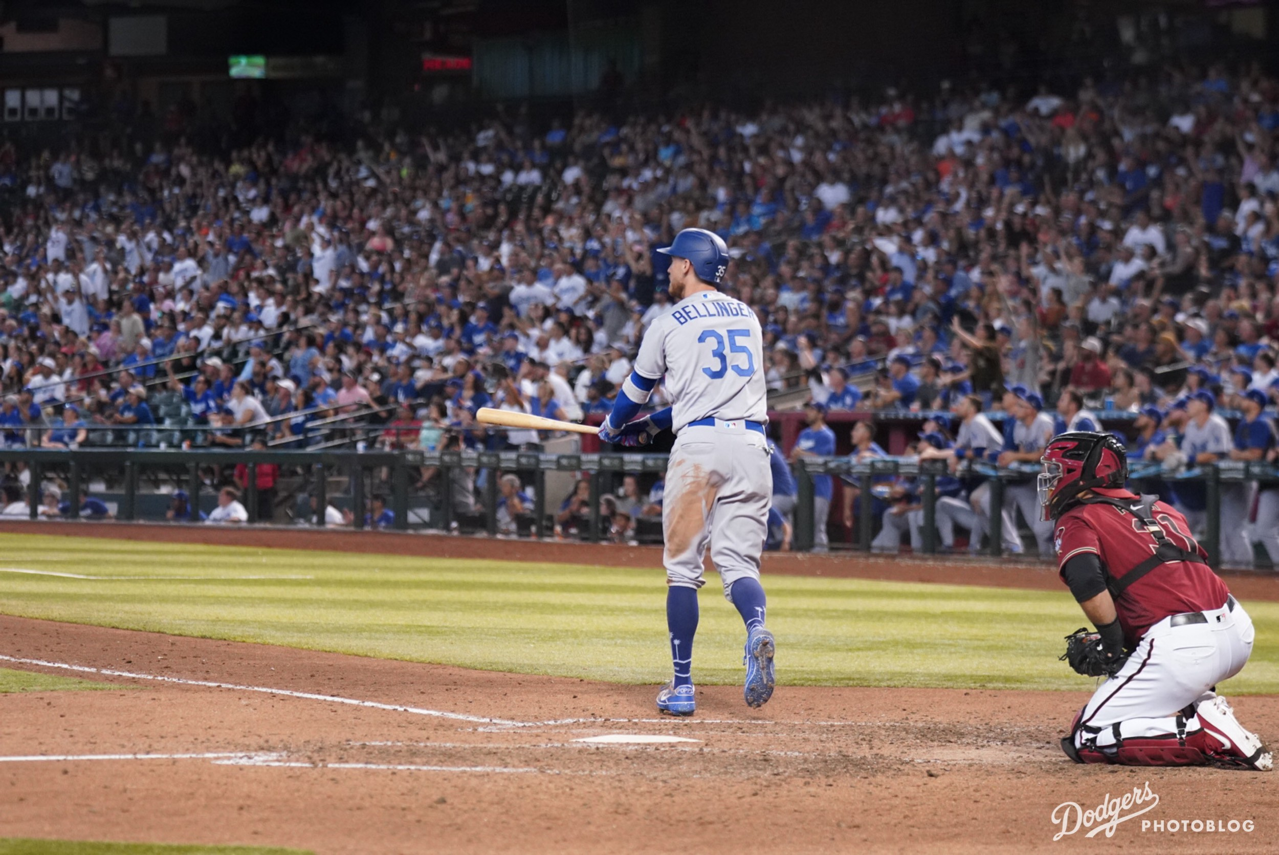 Cody Bellinger knows he got all of that one. Hans Rodriguez/MLB.com