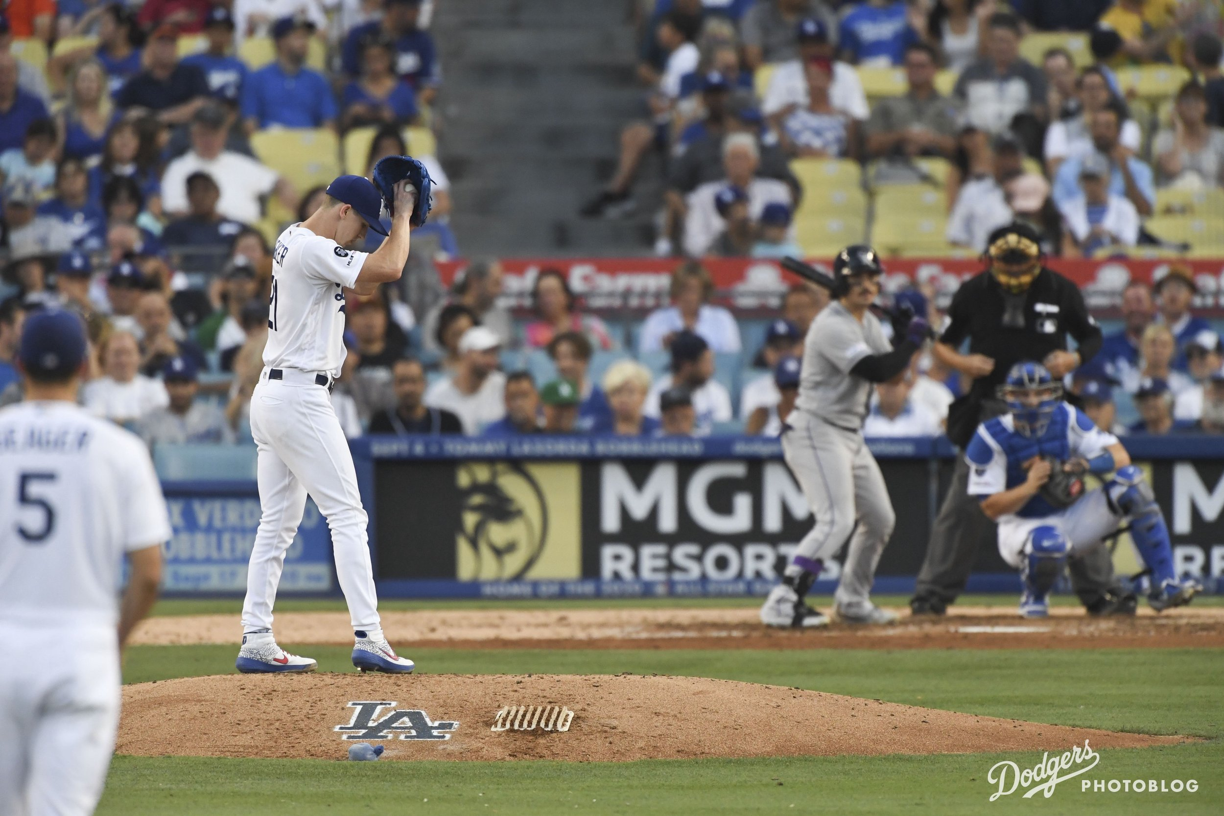Walker Buehler in his windup. Jon SooHoo/Los Angeles Dodgers