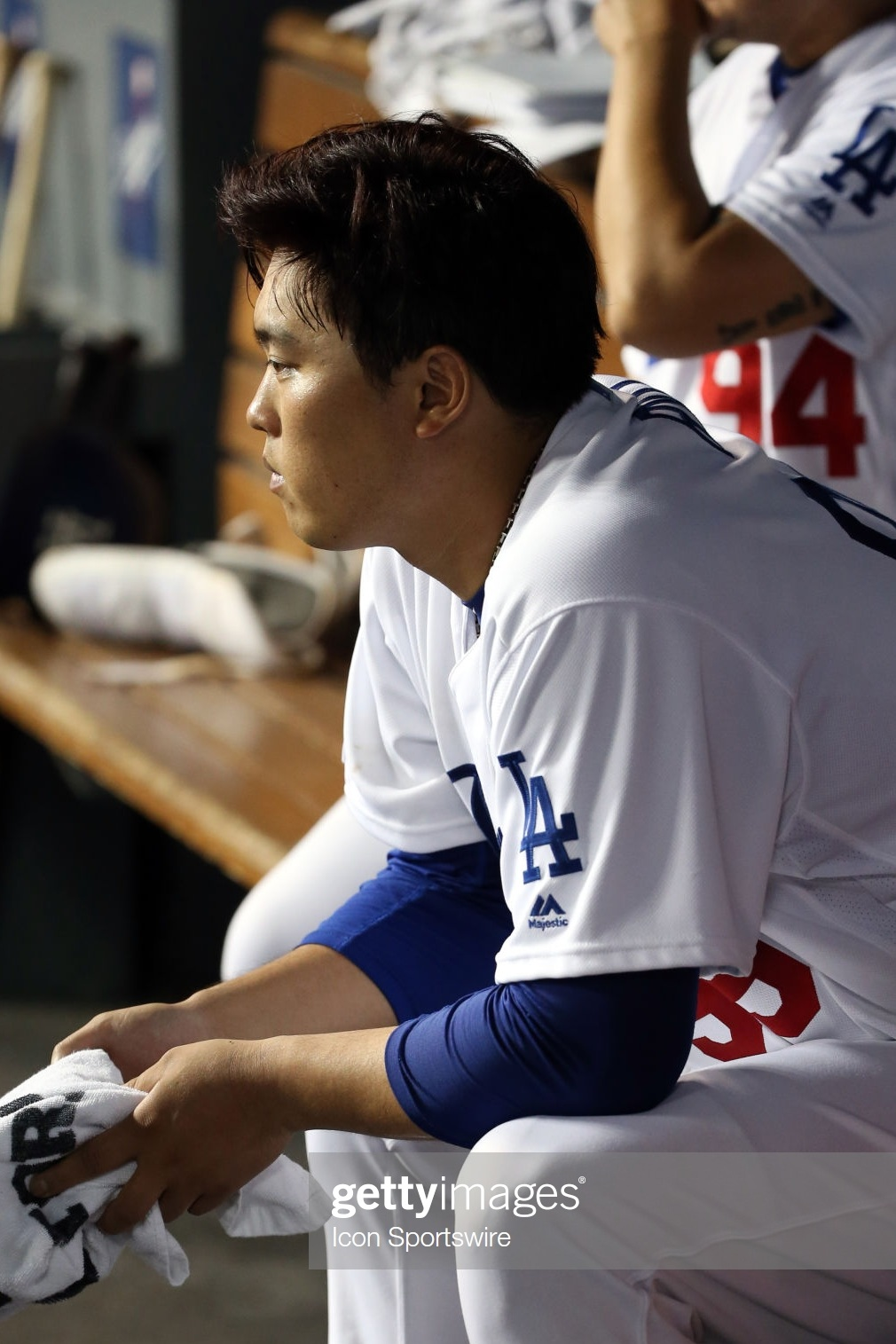 Hyun-Jin Ryu frustrated with himself. Getty Images