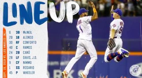 Mets lineup.