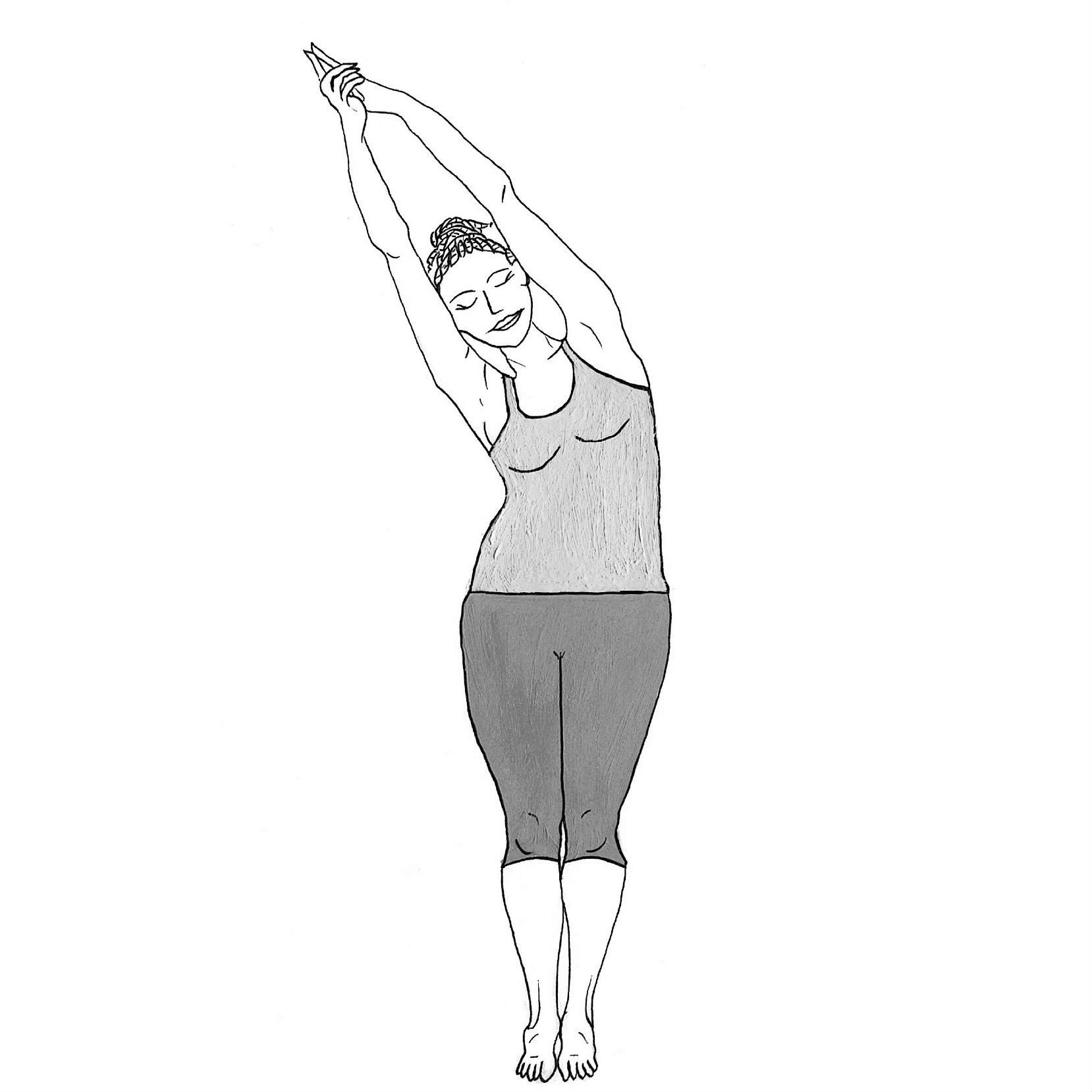 Crescent Moon - Ashta Chandrasana