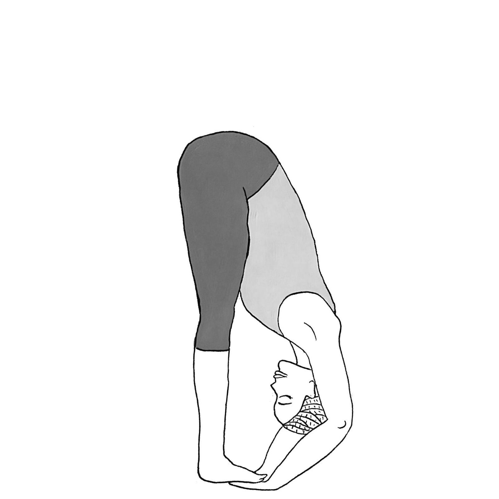 Folded Hand Under Feet Pose - Padahastasana