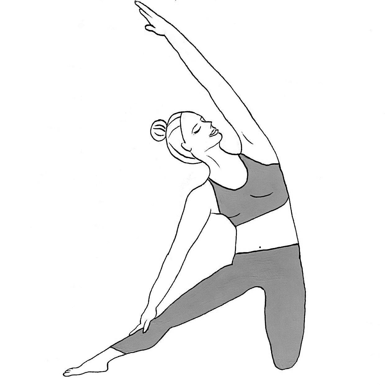 Gate Pose - Parighasana