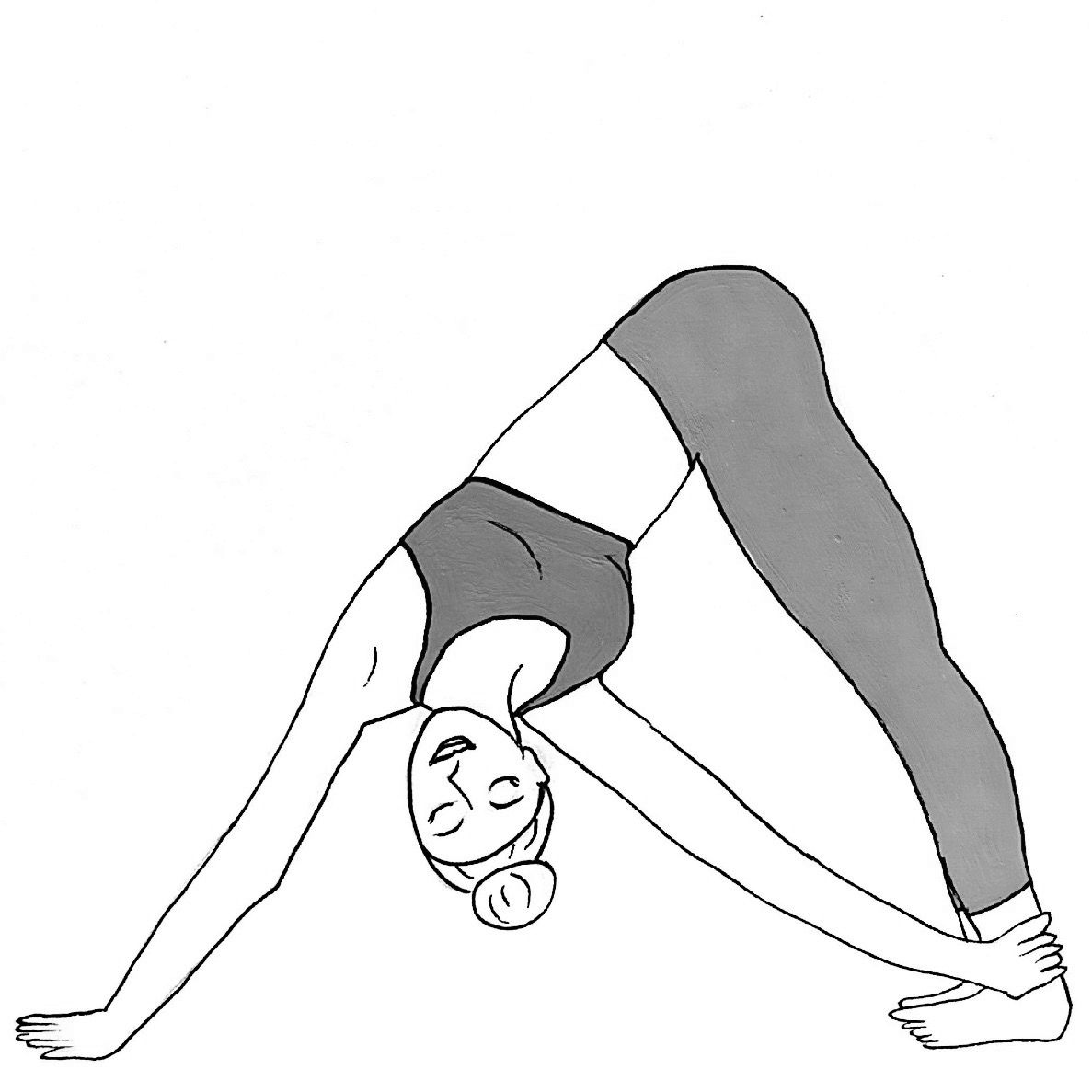 Revolved Downward Facing Dog - Parivritta Adho Mukha Svanasana