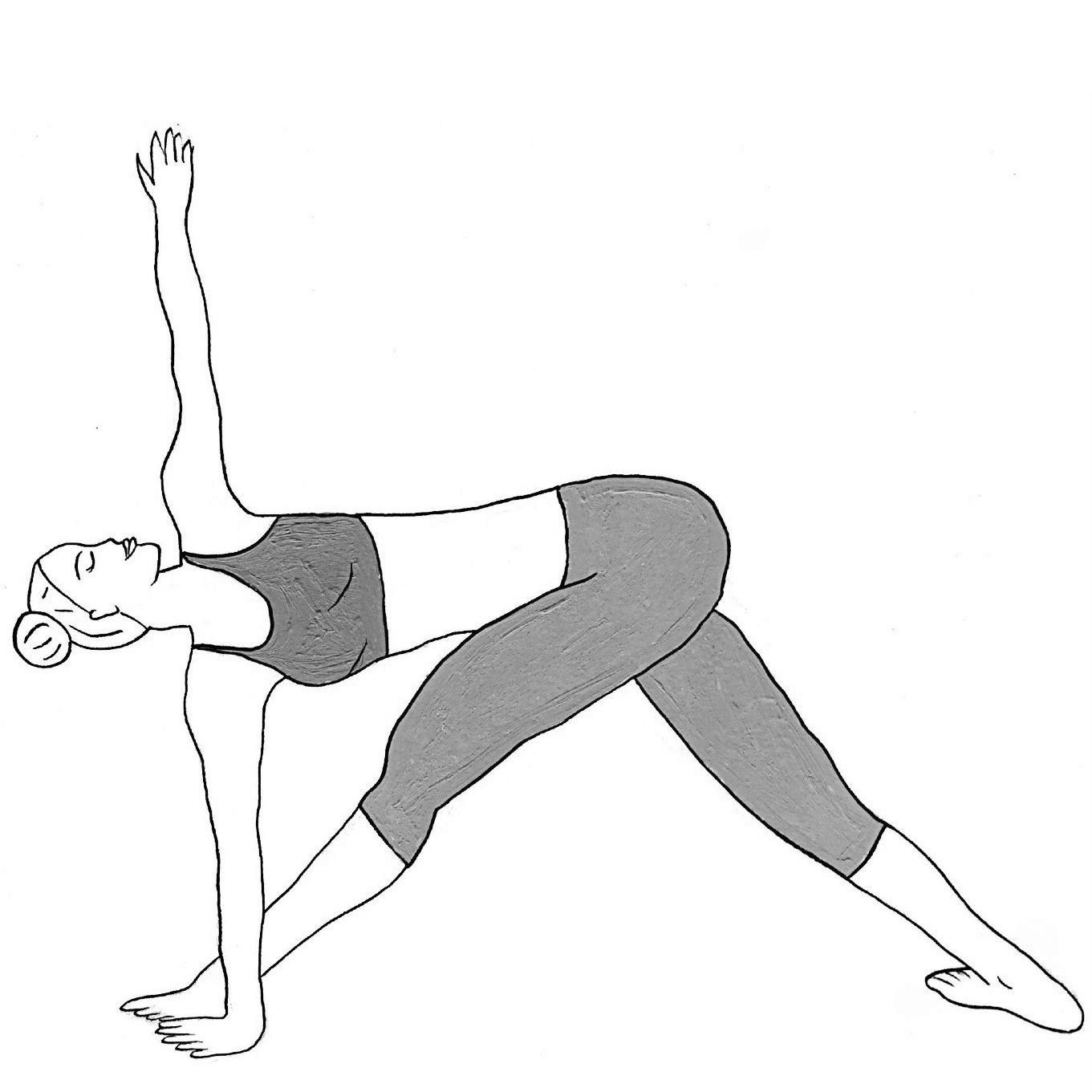 Twisted Triangle Pose - Parivritta Trikonasana