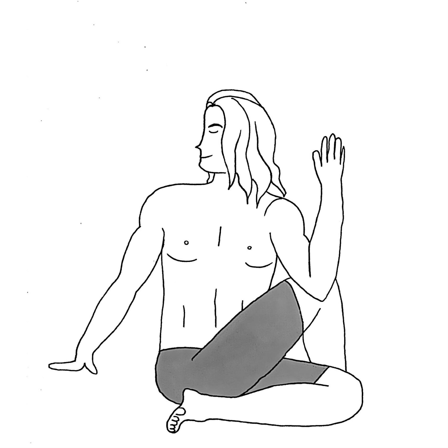Half Lord of the Fishes Pose - Ardha Matsyendrasana