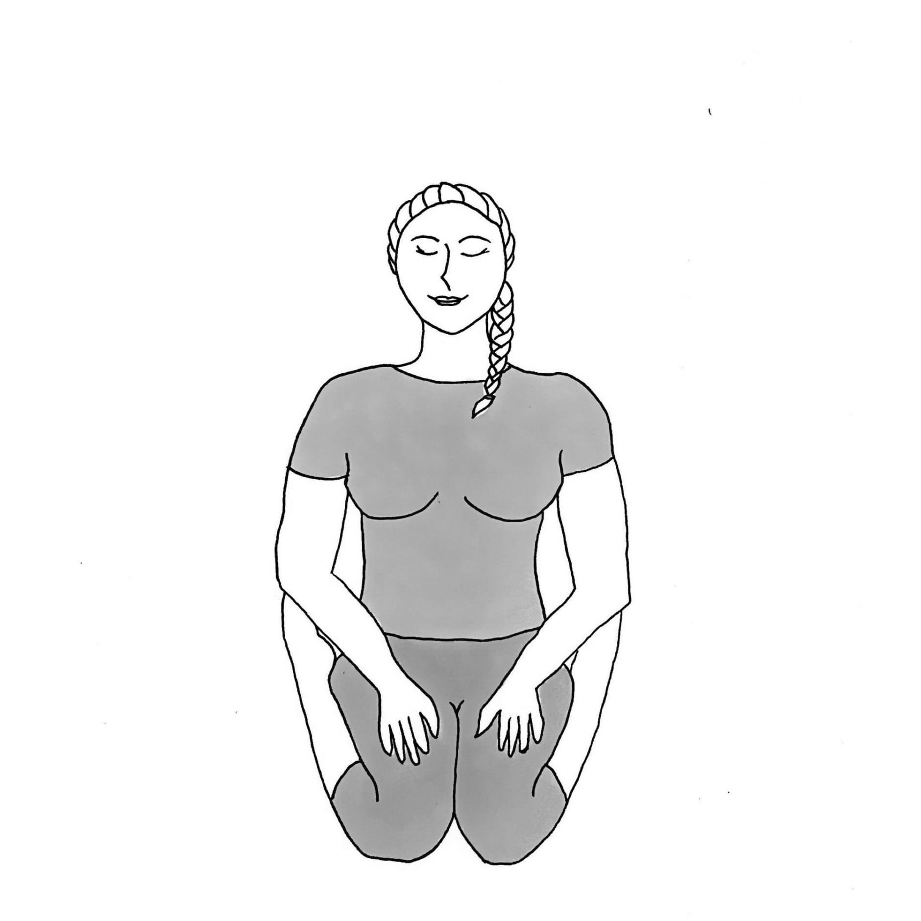 Hero's Pose - Virasana