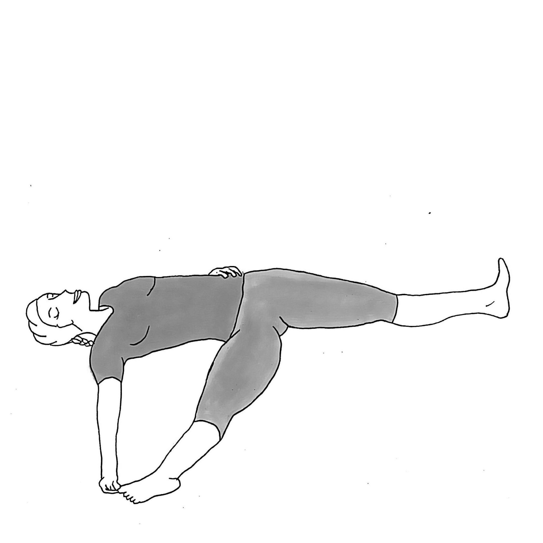 Reclining Big Toe Pose B - Supta Padangusthasana B