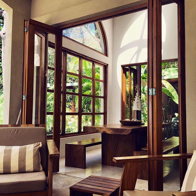 The warm glow of local wood #interior #design #decor #beachfront #luxury #vacation #resort #rental #maisonmarazul #santateresa #costarica