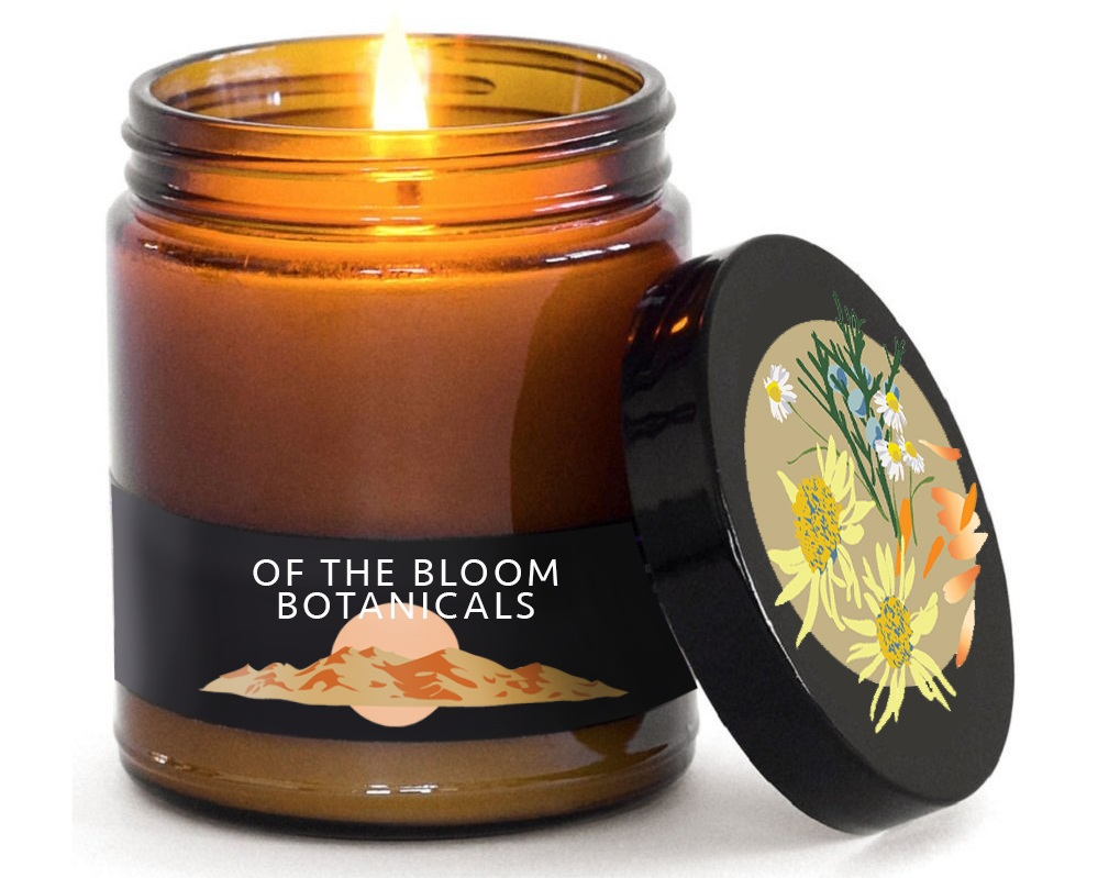 OF THE BLOOM BOTANICALS • ILLUSTRATION  Illustrations for printed labels and packaging components, using key herbal ingredients and local Colorado color inspiration.